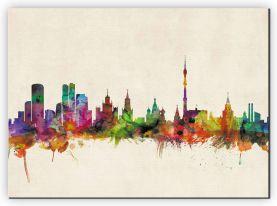 Large Moscow City Skyline (Canvas)