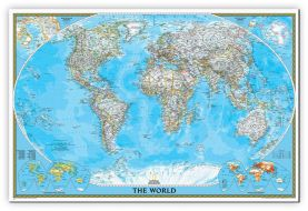 National Geographic World Classic Map (Canvas)