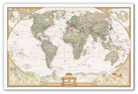 National Geographic World Executive Map (Canvas)