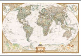National Geographic World Executive Map (Hanging bars)