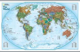 National Geographic World Explorer Map (Hanging bars)