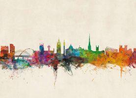 Newcastle City Skyline