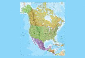 North America Political Map Wallpaper