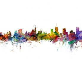 Ottawa Canada Watercolour Skyline