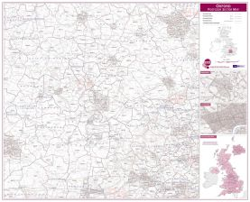 Oxford Postcode Sector Map (Raster digital)