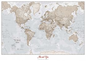 Huge Personalised World Is Art - Wall Map Neutral (Paper)