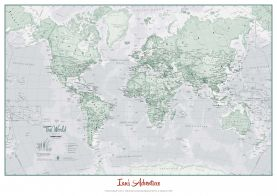 Huge Personalised World Is Art - Wall Map Rustic (Paper)