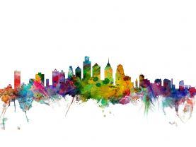 Philadelphia Watercolour Skyline