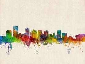 Phoenix Arizona Watercolour Skyline