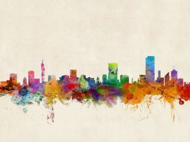 Pretoria South Africa Watercolour Skyline