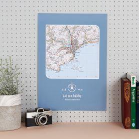 Personalised Postcode Map Print - (Matt Art Paper)