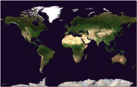 Large Satellite Map of the World (Pinboard)