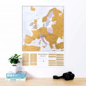 Scratch Europe Print (Silk Art Paper)