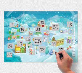 Scratch North Pole Advent Calendar (Silk Art Paper)