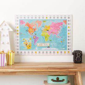 Scratch Off Kids World Movie Locations Print