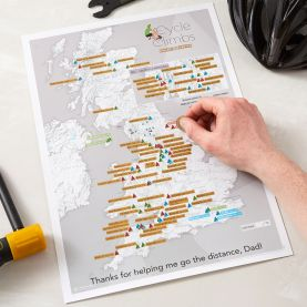 Scratch Off UK Cycle Climbs Print