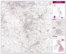 Sheffield Postcode Sector Map (Pinboard)