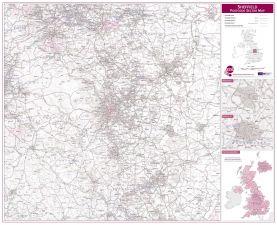 Sheffield Postcode Sector Map (Raster digital)