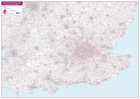 South East England Postcode District Map (Paper)