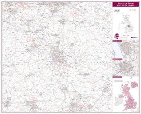 Stoke on Trent Postcode Sector Map