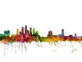 Tampa Watercolour Skyline