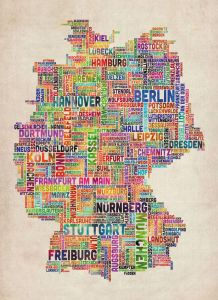 Text Art Map of Germany