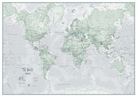 Large The World Is Art - Wall Map Rustic (Paper)