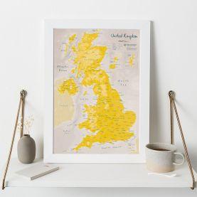 UK as Art Map - Daffodil