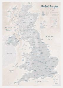 UK as Art Map - Lead (Matt Art Paper)