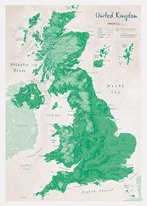 UK as Art Map - Shamrock (Matt Art Paper)