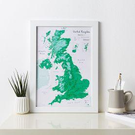 UK as Art Map - Shamrock