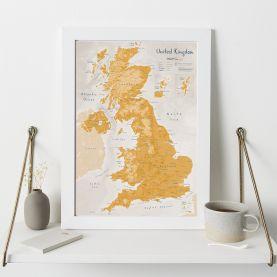 UK as Art Map - Saffron