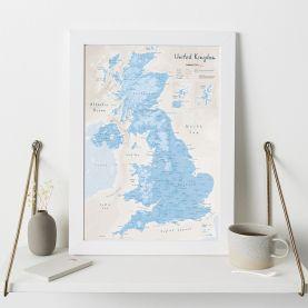 UK as Art Map - Cerulean