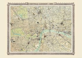 Vintage London Map from the Royal Atlas 1898