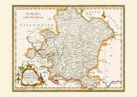 Vintage Map of Franconia