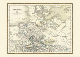 Vintage Map of Northern Germany