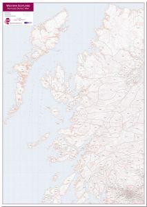 Western Scotland Postcode District Map (Pinboard)
