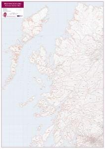 Western Scotland Postcode District Map (Raster digital)