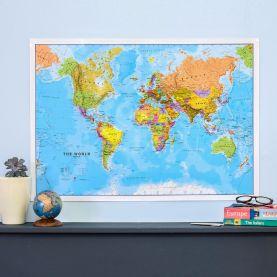 Medium World Wall Map Political (Paper)