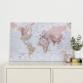 Medium Executive World Wall Map Political (Canvas)
