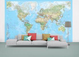 Environmental World Map Wallpaper