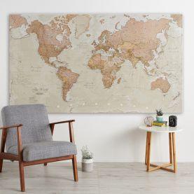 Huge Antique World Map (Canvas)