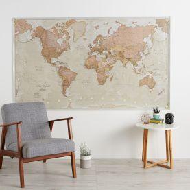 Huge Antique World Map (Laminated)