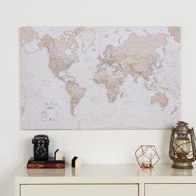 Medium Antique World Map (Canvas)