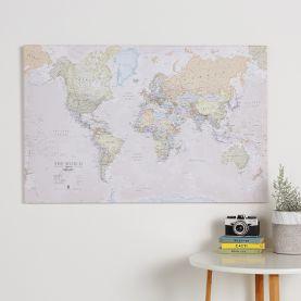 Medium Classic World Map (Canvas)
