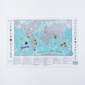 Scratch the World® activity adventure map print (Silk Art Paper)