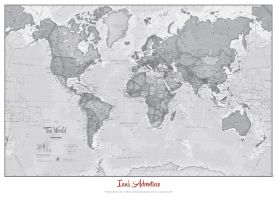 The World Is Art - Wall Map Grey