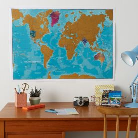 Scratch the World® - Watercolour Edition Map (Silk Art Paper - Pack of 2)
