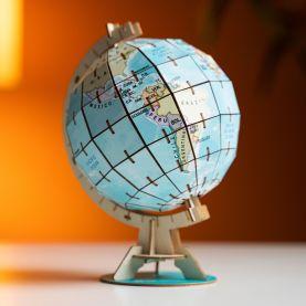 3D Wooden Globe Puzzle
