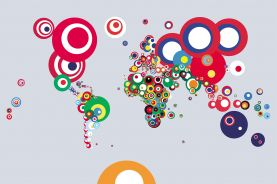 World Abstract Flags Art Map of the World